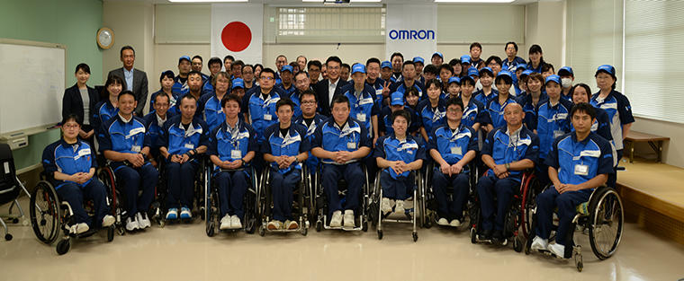 Group Photograph of the Employees of OMRON Taiyo